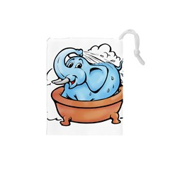 Elephant Bad Shower Drawstring Pouches (small)