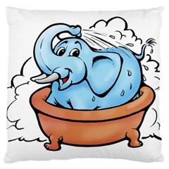 Elephant Bad Shower Large Flano Cushion Case (two Sides)