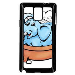 Elephant Bad Shower Samsung Galaxy Note 4 Case (black)