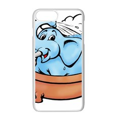 Elephant Bad Shower Apple Iphone 7 Plus White Seamless Case