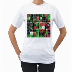 Paper Background Color Graphics Women s T Shirt (white) (two Sided)