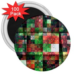 Paper Background Color Graphics 3  Magnets (100 Pack)