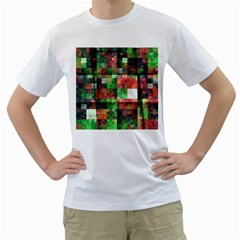 Paper Background Color Graphics Men s T Shirt (white) (two Sided)
