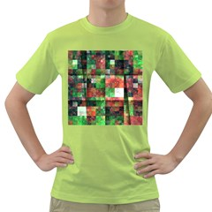 Paper Background Color Graphics Green T Shirt