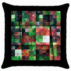 Paper Background Color Graphics Throw Pillow Case (black)