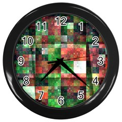 Paper Background Color Graphics Wall Clocks (Black)