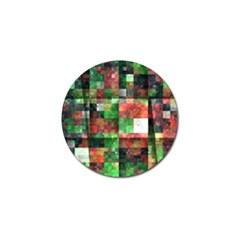 Paper Background Color Graphics Golf Ball Marker (4 pack)