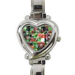 Paper Background Color Graphics Heart Italian Charm Watch
