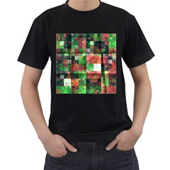 Paper Background Color Graphics Men s T Shirt (black) (two Sided)