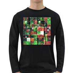 Paper Background Color Graphics Long Sleeve Dark T Shirts