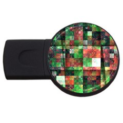 Paper Background Color Graphics Usb Flash Drive Round (4 Gb)
