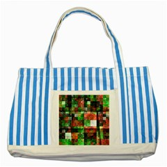 Paper Background Color Graphics Striped Blue Tote Bag