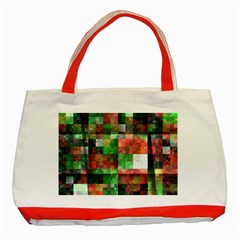 Paper Background Color Graphics Classic Tote Bag (red)