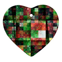 Paper Background Color Graphics Heart Ornament (2 Sides)