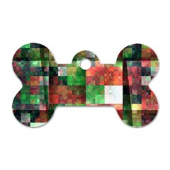 Paper Background Color Graphics Dog Tag Bone (two Sides)