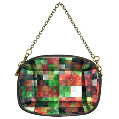 Paper Background Color Graphics Chain Purses (two Sides)