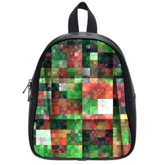 Paper Background Color Graphics School Bags (small)
