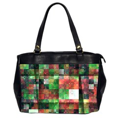 Paper Background Color Graphics Office Handbags (2 Sides)