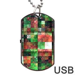 Paper Background Color Graphics Dog Tag Usb Flash (two Sides)