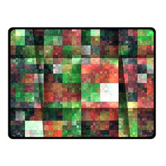Paper Background Color Graphics Double Sided Fleece Blanket (small)