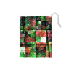 Paper Background Color Graphics Drawstring Pouches (small)