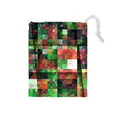 Paper Background Color Graphics Drawstring Pouches (medium)