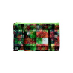 Paper Background Color Graphics Cosmetic Bag (xs)