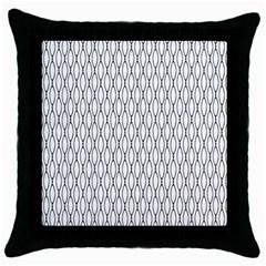 Round Black Throw Pillow Case (black)