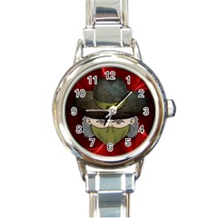 Illustration Drawing Vector Color Round Italian Charm Watch