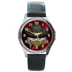 Illustration Drawing Vector Color Round Metal Watch