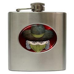 Illustration Drawing Vector Color Hip Flask (6 Oz)