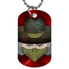 Illustration Drawing Vector Color Dog Tag (two Sides)