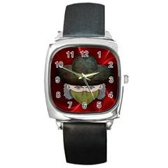 Illustration Drawing Vector Color Square Metal Watch