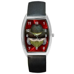 Illustration Drawing Vector Color Barrel Style Metal Watch