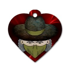 Illustration Drawing Vector Color Dog Tag Heart (two Sides)
