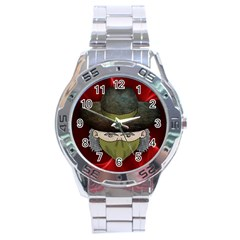 Illustration Drawing Vector Color Stainless Steel Analogue Watch