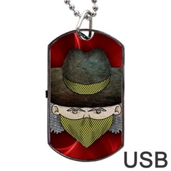 Illustration Drawing Vector Color Dog Tag Usb Flash (two Sides)
