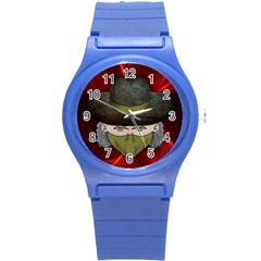 Illustration Drawing Vector Color Round Plastic Sport Watch (s)
