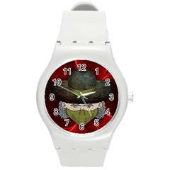 Illustration Drawing Vector Color Round Plastic Sport Watch (m)