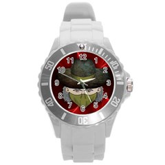 Illustration Drawing Vector Color Round Plastic Sport Watch (l)