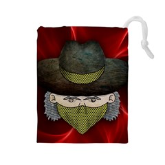 Illustration Drawing Vector Color Drawstring Pouches (large)