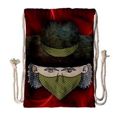 Illustration Drawing Vector Color Drawstring Bag (Large)