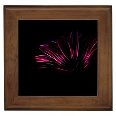 Purple Flower Pattern Design Abstract Background Framed Tiles