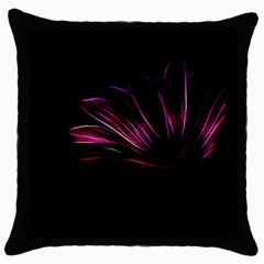 Purple Flower Pattern Design Abstract Background Throw Pillow Case (Black)
