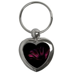 Purple Flower Pattern Design Abstract Background Key Chains (heart)