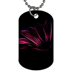 Purple Flower Pattern Design Abstract Background Dog Tag (two Sides)