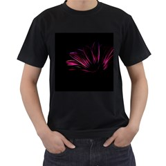 Purple Flower Pattern Design Abstract Background Men s T Shirt (black) (two Sided)