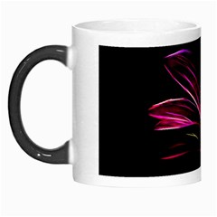 Purple Flower Pattern Design Abstract Background Morph Mugs