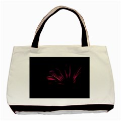 Purple Flower Pattern Design Abstract Background Basic Tote Bag