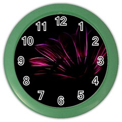 Purple Flower Pattern Design Abstract Background Color Wall Clocks